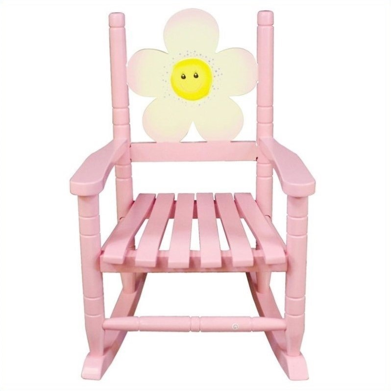 Teamson Kids Safari Rocking Chair Flower
