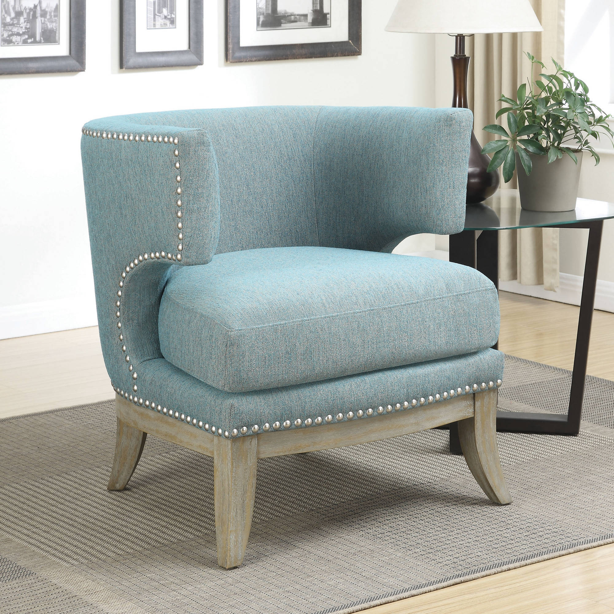 Coaster Transitional Barrel Back Design Accent Chair