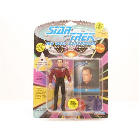 Star Fleet Uniforms (Star Trek The Next Generation Q in Starfleet Uniform 4 inch Action Figure, Product Features: Includes a Satrfleet Action Base By Playmates From)