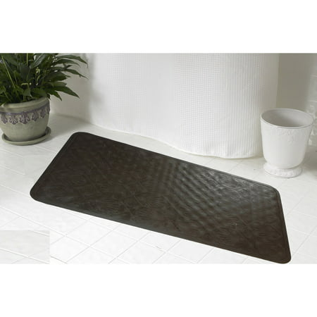 Small (13'' x 20'') Slip-Resistant Rubber Bath Tub Mat in