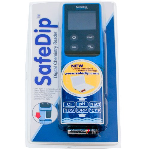 solaxx safedip 6 in 1 salt water electronic water tester black