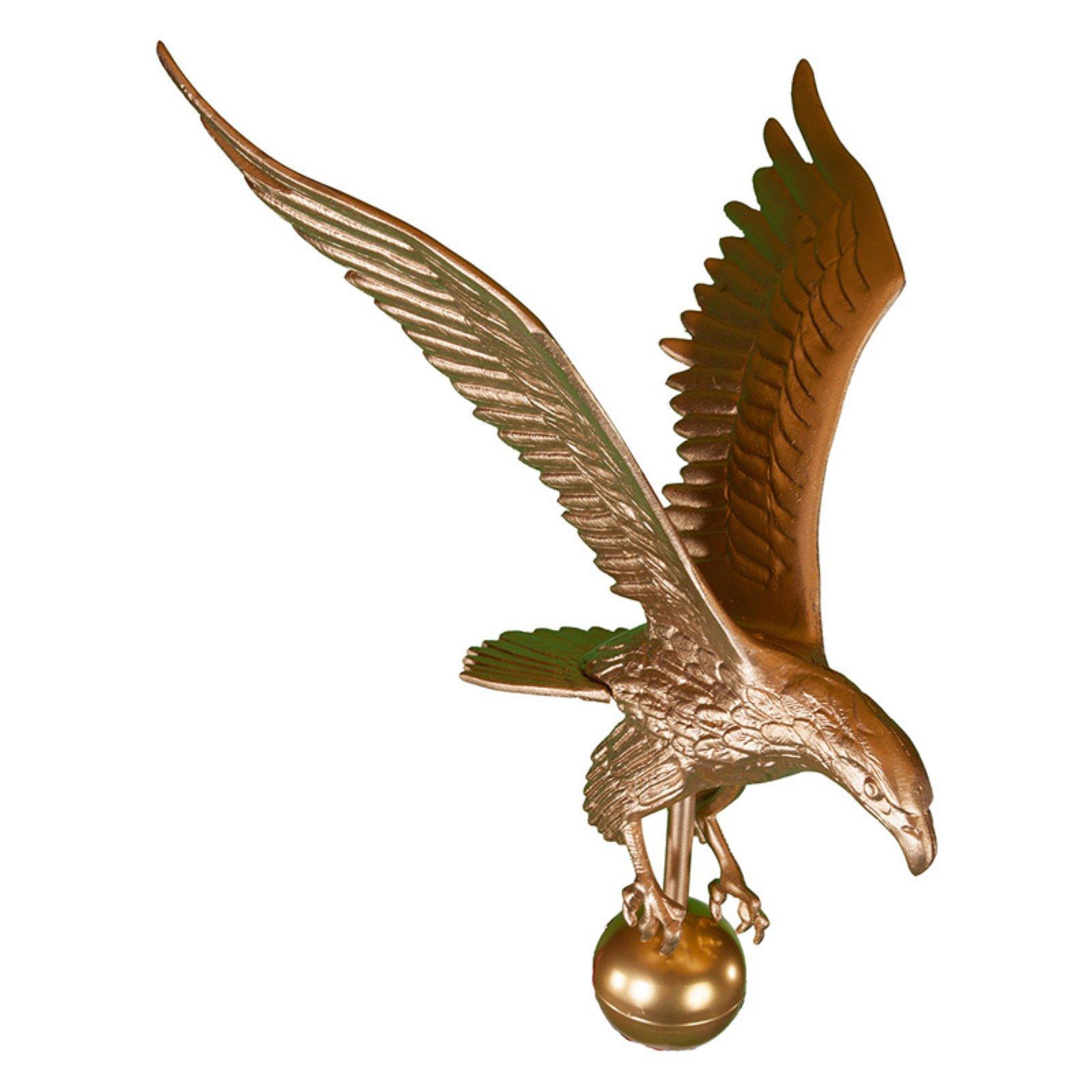 Gold Bronze Eagle Flagpole Finial