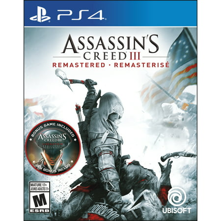 Assassin's Creed III Remastered, Ubisoft, PlayStation 4, 887256039387