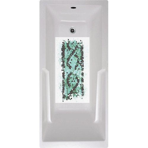 No Slip Mat by Versatraction Abstract Mosaic Bath Tub and Shower Mat