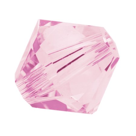 Swarovski Crystal, #5328 Bicone Beads 4mm, 24 Pieces, Rosaline