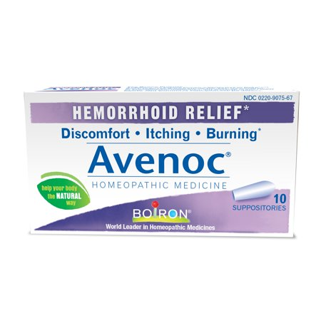 (Boiron Avenoc Hemorrhoid Relief Suppositories, 10 Ct)