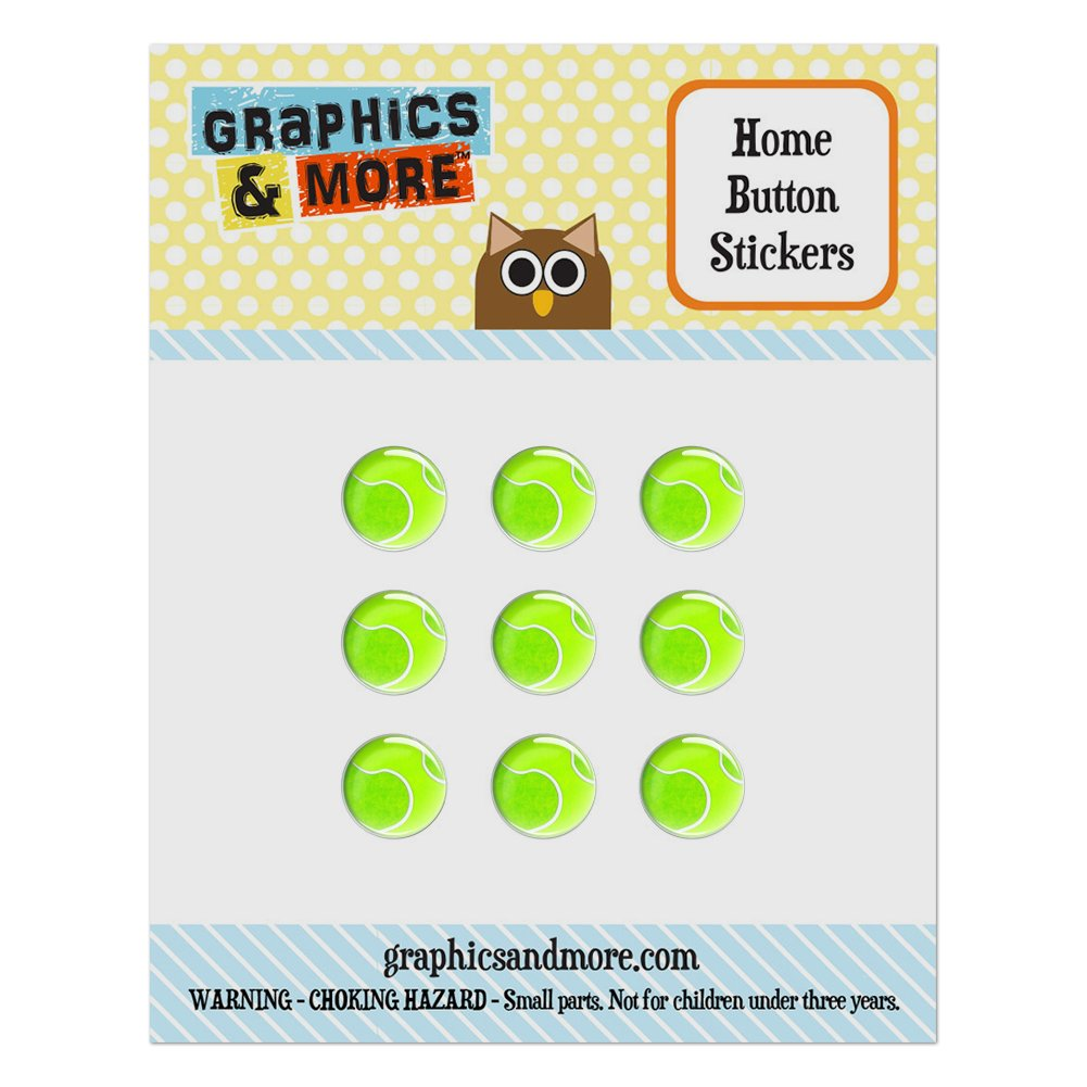 Tennis Ball Home Button Stickers Set Fit Apple iPhone iPad iPod Touch