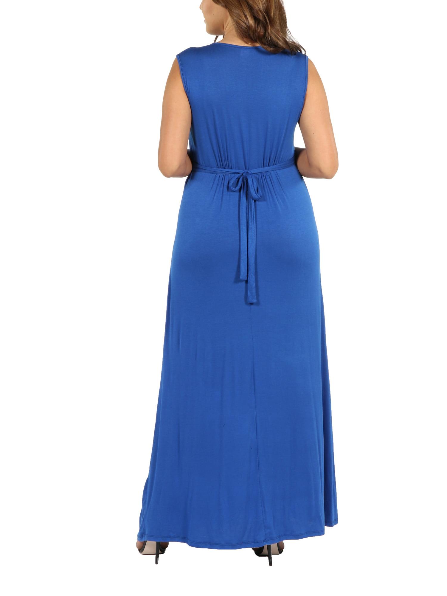24/7 Comfort Apparel - Island Fire Plus Size Maxi Dress - Walmart.com
