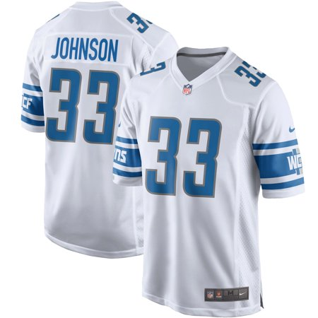 Kerryon Johnson Detroit Lions Nike Game Jersey - White - Detroit Lions Jersey