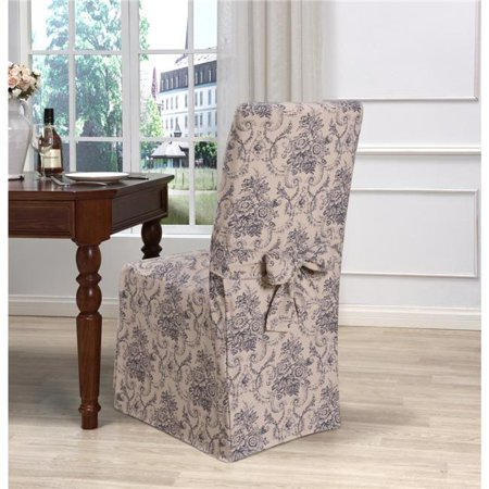 Kathy Ireland Chateau Ding Room Chair Slipcover Navy