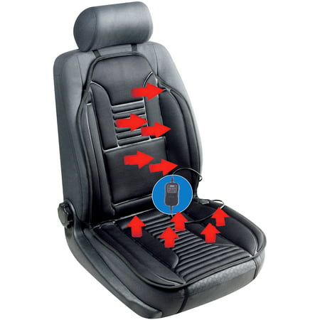 Sojoy SJ154A Universal 12V Heated Car Seat Heater Heated Cushion Warmer High/Low/Temp Switch, 30 Mins Timer SJ0007-3-07, Black