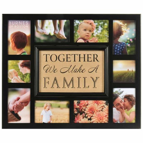 Burlap Together We Make A Family Collage Walmartcom