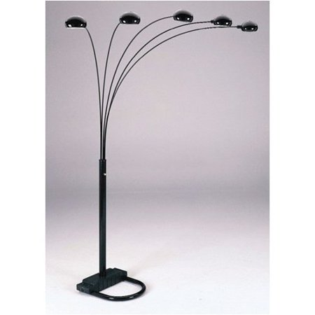 black five arm arc floor lamp. Black Bedroom Furniture Sets. Home Design Ideas