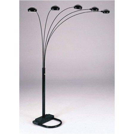 Black Five Arm Arc Floor Lamp Walmart Com