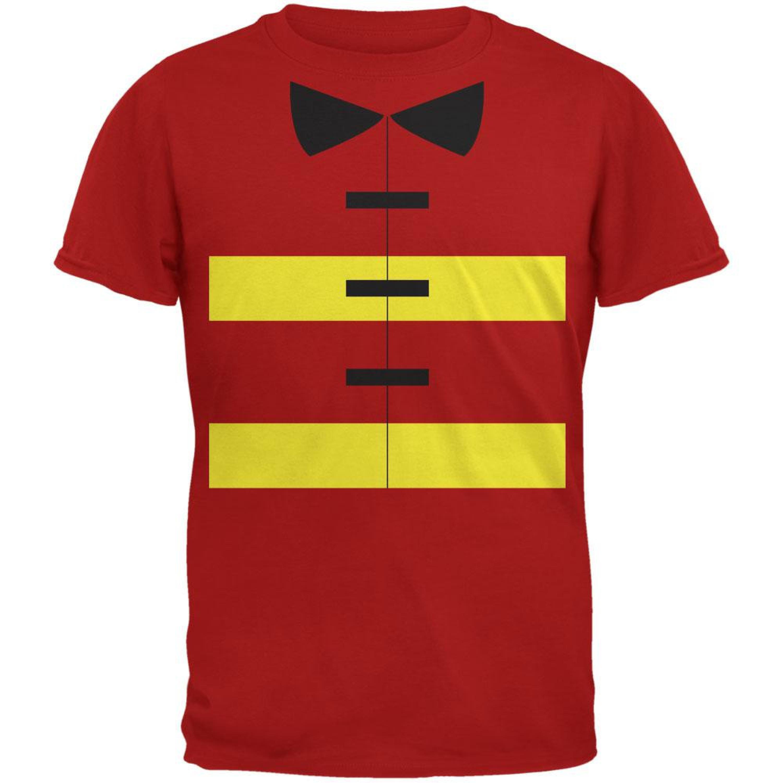 Halloween Fireman Costume Red Youth T-Shirt