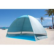 Flyingus Outdoor Automatic Pop up Instant Portable Cabana Beach Tent, 2-3 Person Camping, Fishing, Hiking, Picnicking Anti UV Beach Tent/Shelter, Sets Up in Seconds