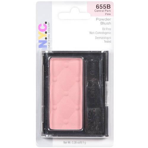 N.Y.C. New York Color Cheek Glow Powder, Central Park Pink 655B, 0.28 oz
