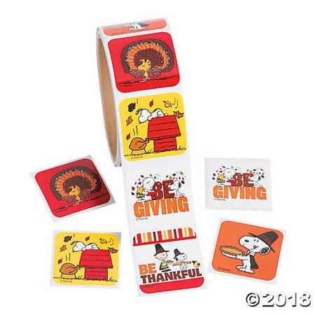 Peanuts? Thanksgiving Stickers - Peanuts Thanksgiving