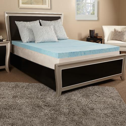 luxury solutions 4u0027u0027 gel memory foam mattress topper