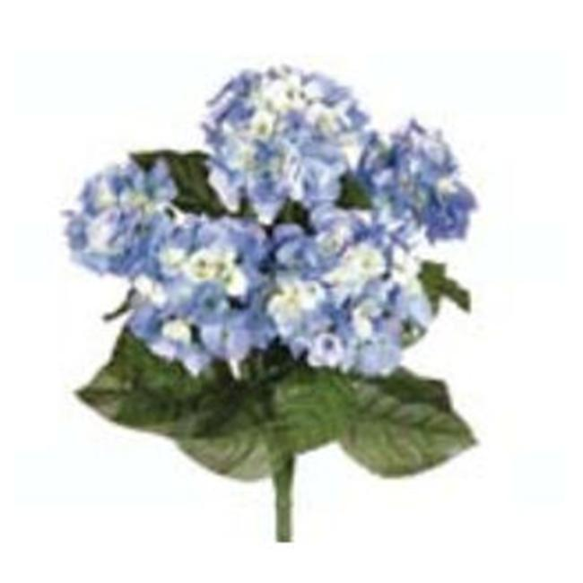 Image of FBH335-BL 22 inch Blue Hydrangea Bush X5- Case of 6