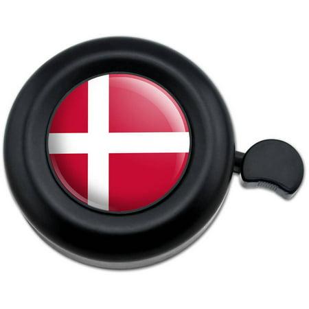Denmark National Country Flag Bicycle Handlebar Bike Bell