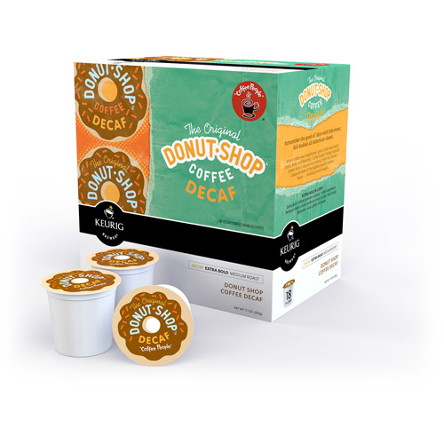 Keurig K-Cups, Coffee People Donut Shop Decaf, 18 ct