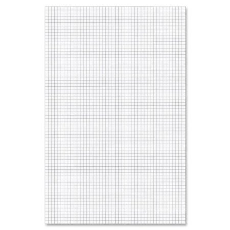 Ampad Faint Blue Ink 1 Sided Quadrille Pad   50 Sheet   20 Lb   Quad Ruled   Ledger 11  X 17    50   Pad   White Paper  22037