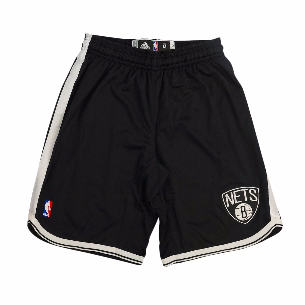 Brooklyn Nets NBA Adidas Black Authentic On-Court Climacool Team Game Shorts For Men