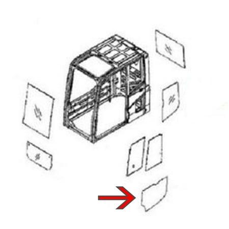 22B-54-16150 Lower Door Glass Made For Komatsu Excavator