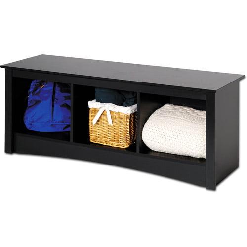 Brisbane Cubbie Bench, Black - Prepac Furniture