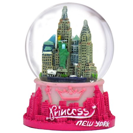 New York Princess Snow Globe - Rose Snowglobe