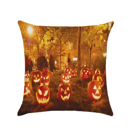 Tommyfit Halloween Pumpkin Throw Pillow Case Cushion Cover For Living Room Bedroom Sofa