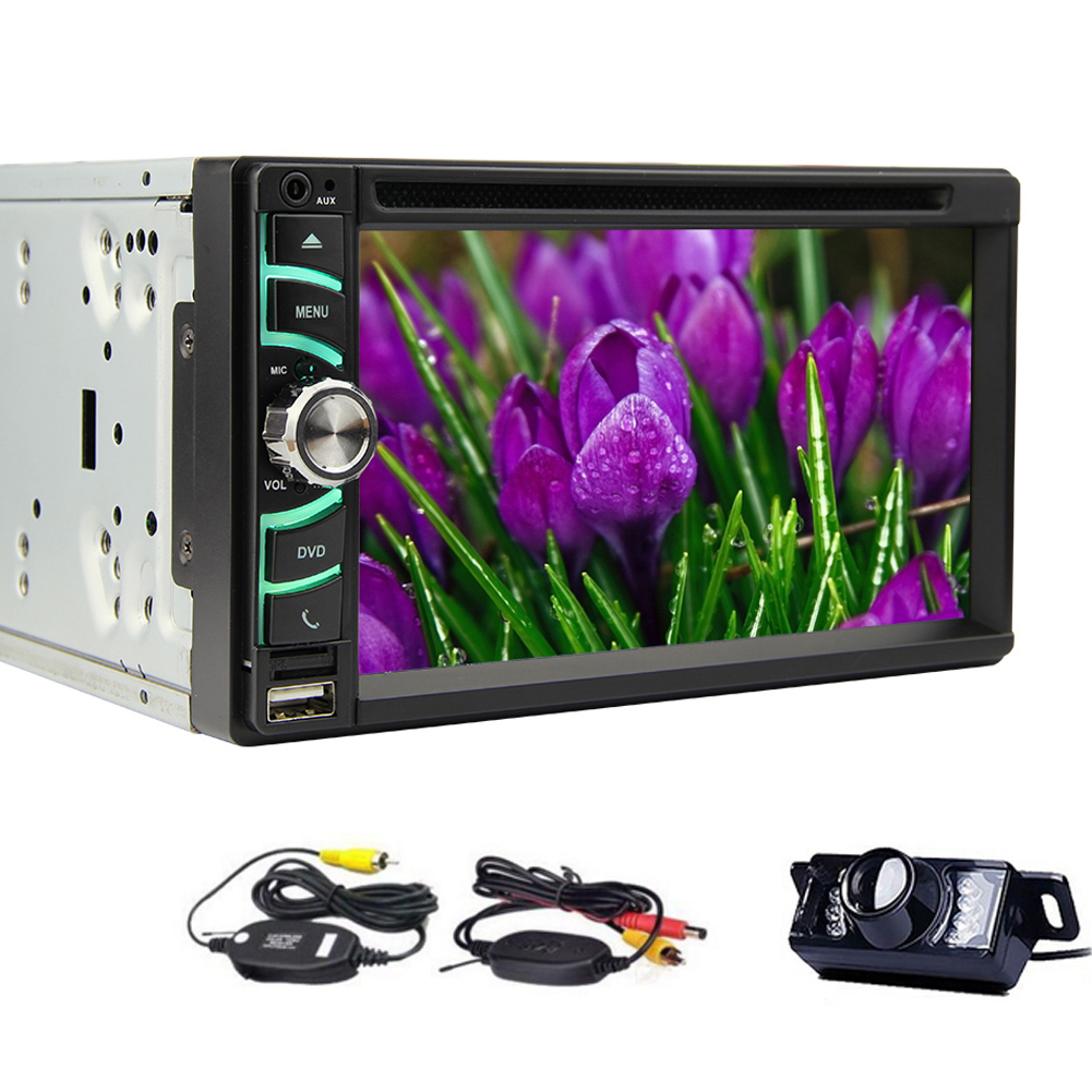 Wireless Backup Camera Car Stereo FM AM Radio with HD Cap...