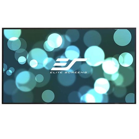 Elite Screens Aeon CLR Series White Fixed Frame Projection Screen by