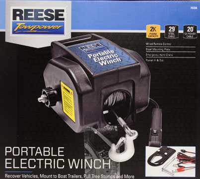 reese towpower portable electric winch walmart com rh walmart com reese 2000 lb winch wiring diagram 120 Volt Winch Wiring Diagram
