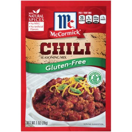 (4 Pack) McCormick Gluten Free Chili Seasoning Mix, 1 -