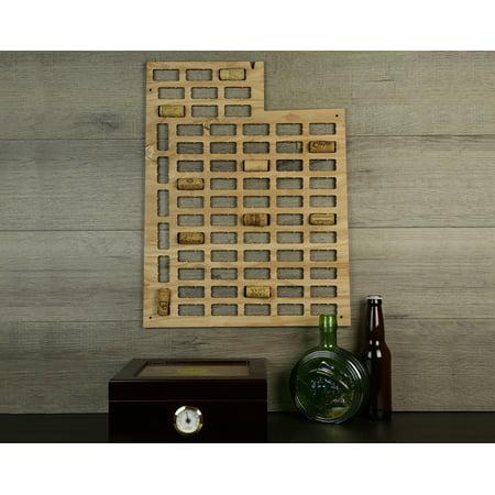 Wine Cork Traps State of Utah Wooden Wine Cork Holder Organizer Wall Decoration ()