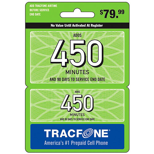 (Email Delivery) Tracfone 450-Minutes Wireless Airtime Card