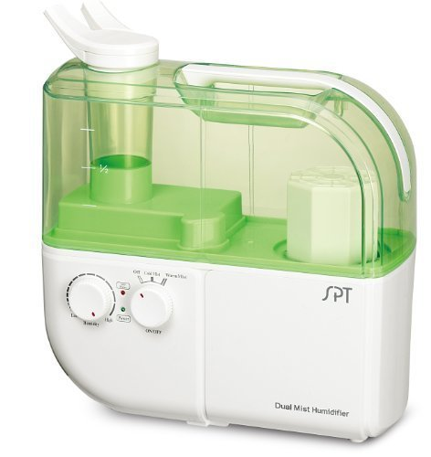 SPT SU-4010G Dual Mist Humidifier with ION Exchange Filter, Green by SPT