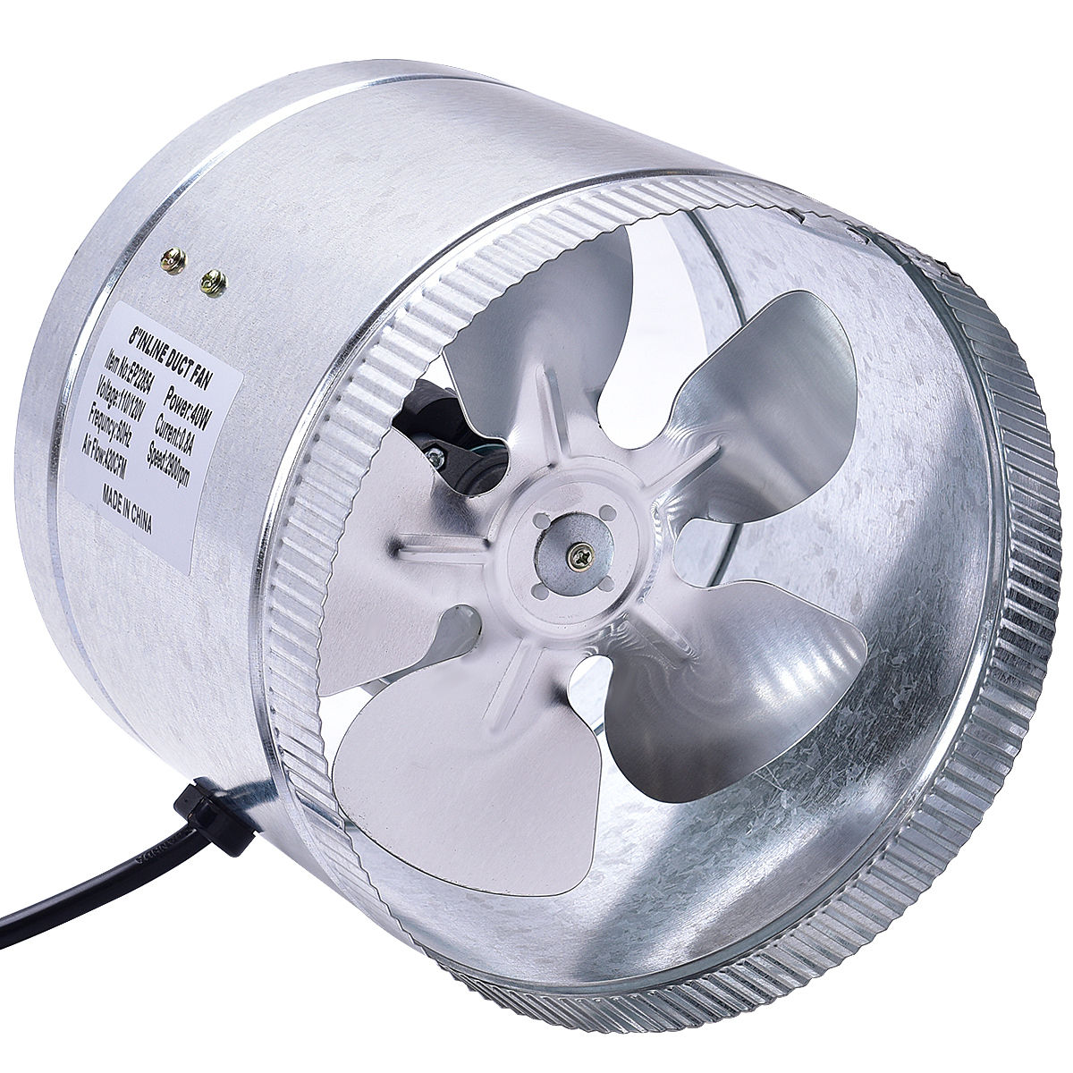 Goplus 8''inch Inline Duct Booster Fan Blower Exhaust Ducting Cooling Vent Fan