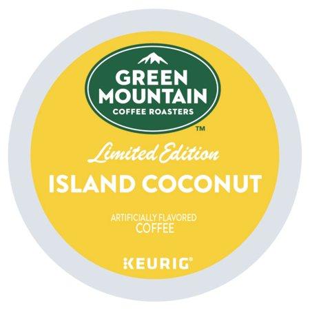 Green Mountain Coffee Island Coconut, Keurig K-Cup Coffee Pods, Light Roast, 18 Count
