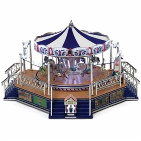 Mr Christmas Carousel.Mr Christmas World S Fair Gold Label Platinum Edition Boardwalk Carousel 79784