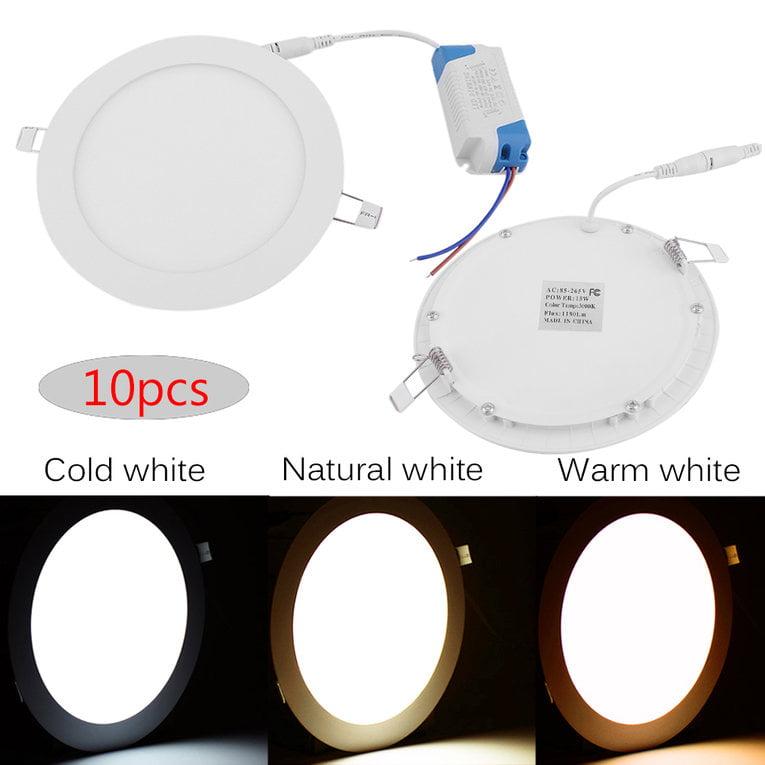 10pcs/set Round Shape AC85-265V Dimmable LED Panel Light 15W Ceiling Light