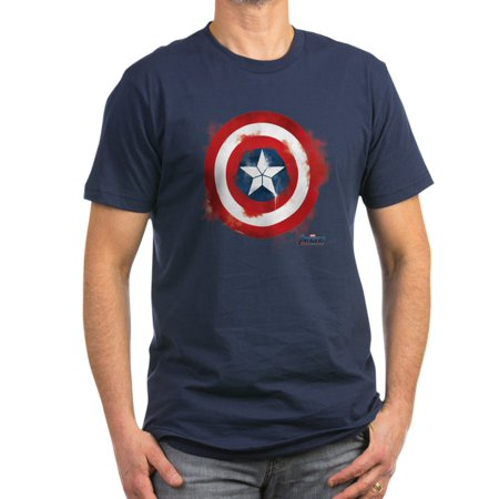 CafePress - Captain America Men's Fitted T Shirt (Dark) - Men's Fitted T-Shirt