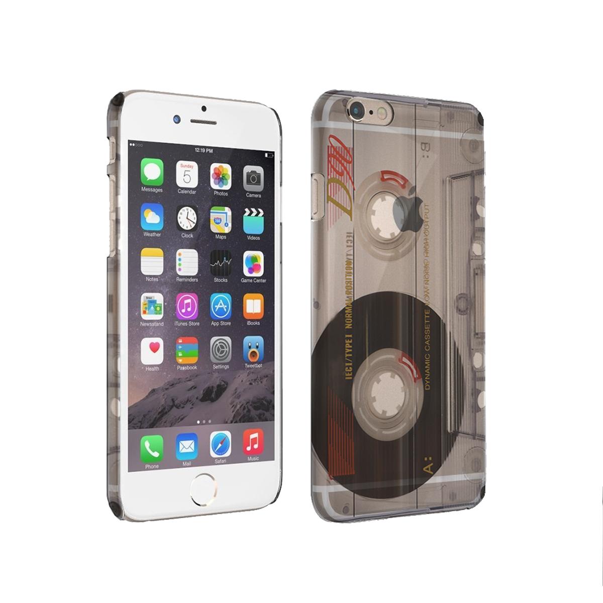 KuzmarK iPhone 6 Plus Clear Cover Case - Old School Cassette Tape