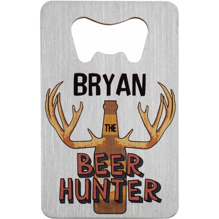 Personalized Wallet Bottle Opener  Brew