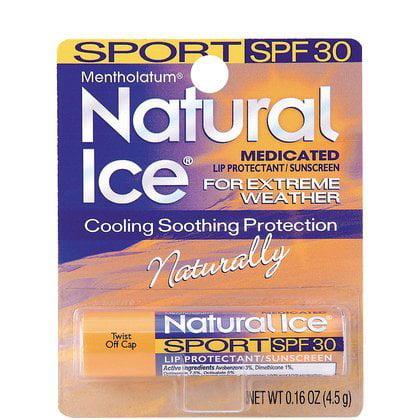 Natural Ice Flavored Lip Balm (Natural Ice Sport - SPF 30 lip balm (4.5g), Sport Flavor)