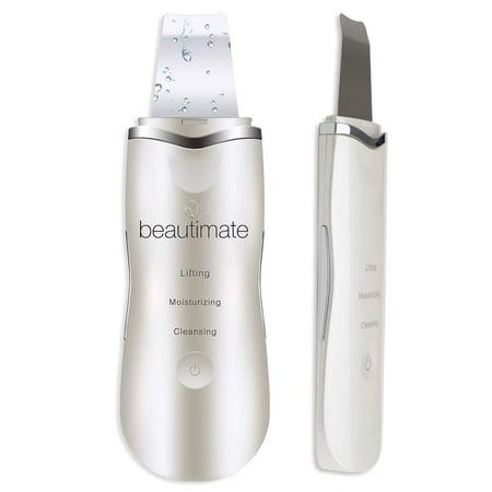 ($99.95 Value) beautimate Ultrasonic Face Scrubber Spatula Blackhead Removal Facial Scraper