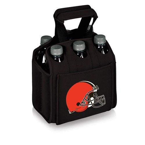 NFL Cooler Bag by Picnic Time, Six Pack - Cleveland Browns, Black