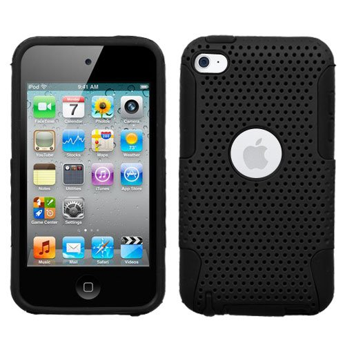Mesh Hybrid Case for iPod Touch 4th Gen - Black/Black